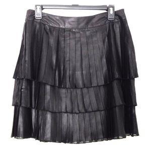 S DKNY Pleated Short Swingy Skirt Mini Jeans Layer